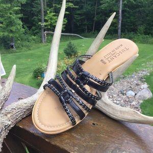 Tuscany Black Beauty Cork Wedge Sandals
